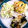 Grilled Halibut Sandwiches with Jalapeno-Grilled Pineapple Slaw